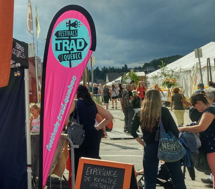 Kiosque des Festivals Trad Québec (été 2019)